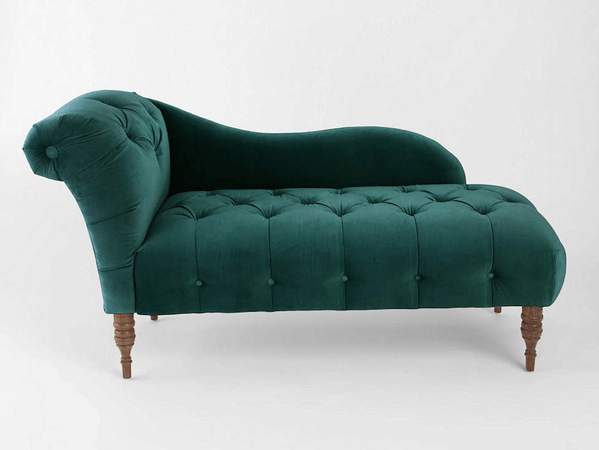 Furniture Finds Edie velvet chaise lounge from Urban