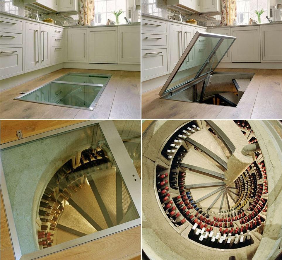 hideen wine cellar