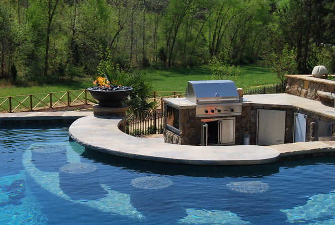swim-up bar pool