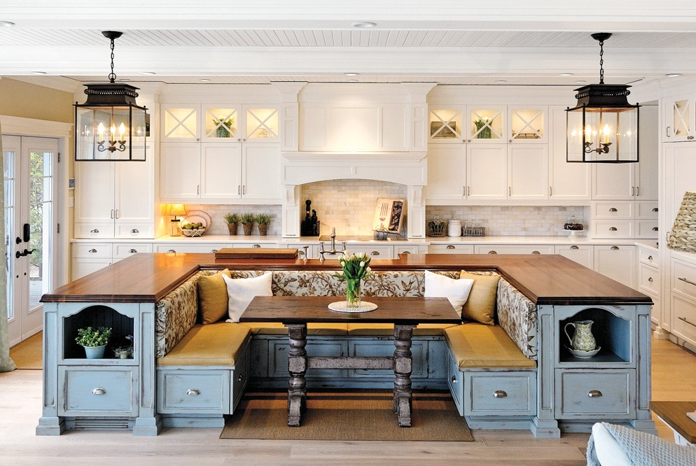 kitchen island built-in seating