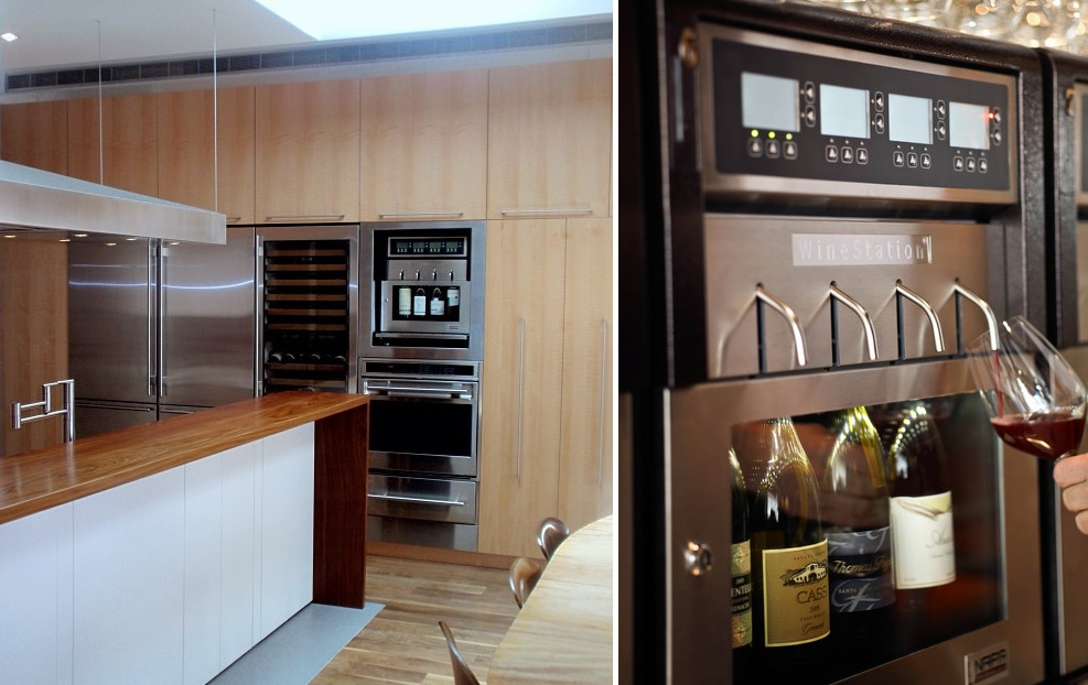 kitchen wine dispenser
