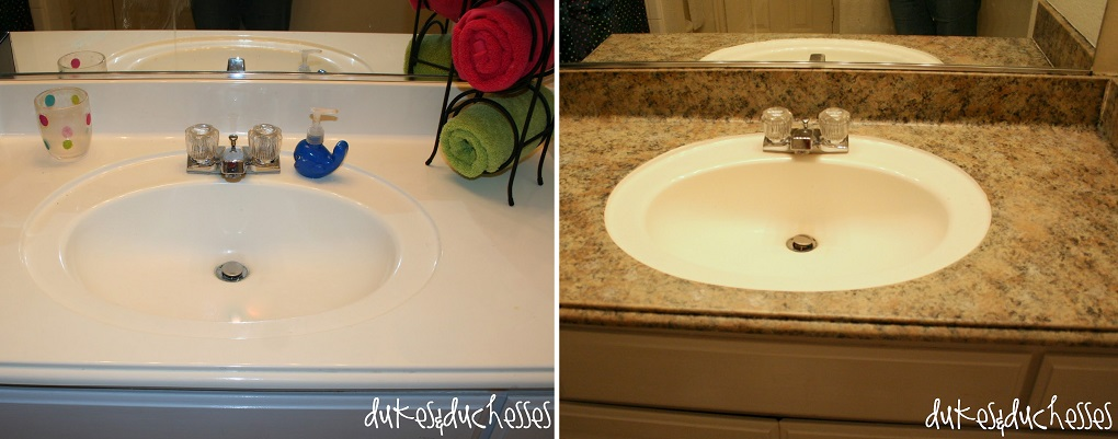 painted granite counters