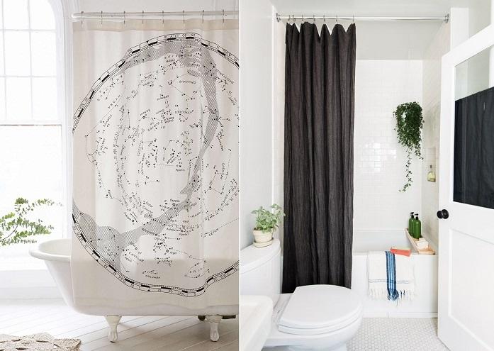 shower curtain bathroom upgrade