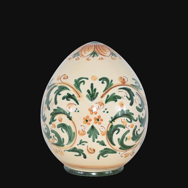 La ceramica di caltagirone è uno dei manufatti artigianali siciliani più famosi. Uovo Ornamentale In Ceramica Artistica Siciliana Decorato A Mano