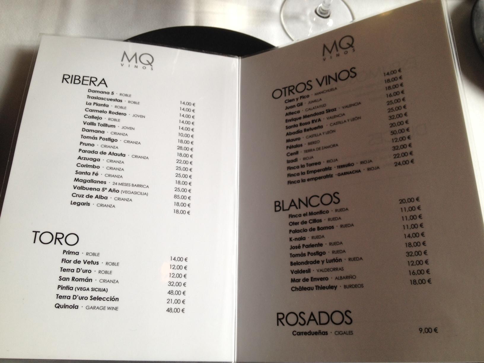Restaurante Martin Quiroga  Valladolid