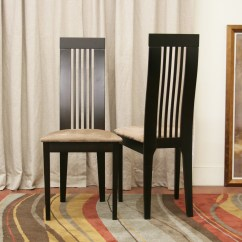 Dark Brown Dining Chair Covers Black And White Cushions Indoor Set Of Four  Pads