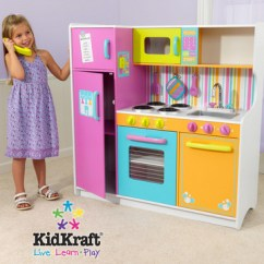 Toy Kitchen Sets Purple Wall Tiles Toys Coupons Play Set A Cute Christmas Gift For Kids Kidkraft Deluxe Lets Cook Great Which Has Bold Primary Colors It Includes Refrigerator Freezer Oven And Microwave Open Close