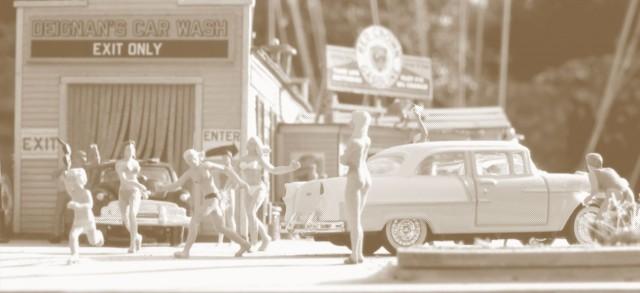 Bikini Car Wash halftone
