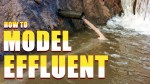 How to model an effluent pipe