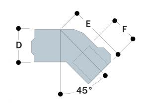 12 - 45° Single Socket Tee
