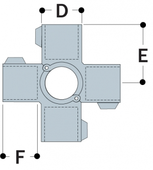 A40 - Split Four Socket Cross