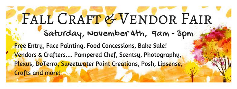 Fall Craft Vendor Fair Is Saturday Sweetwaternow