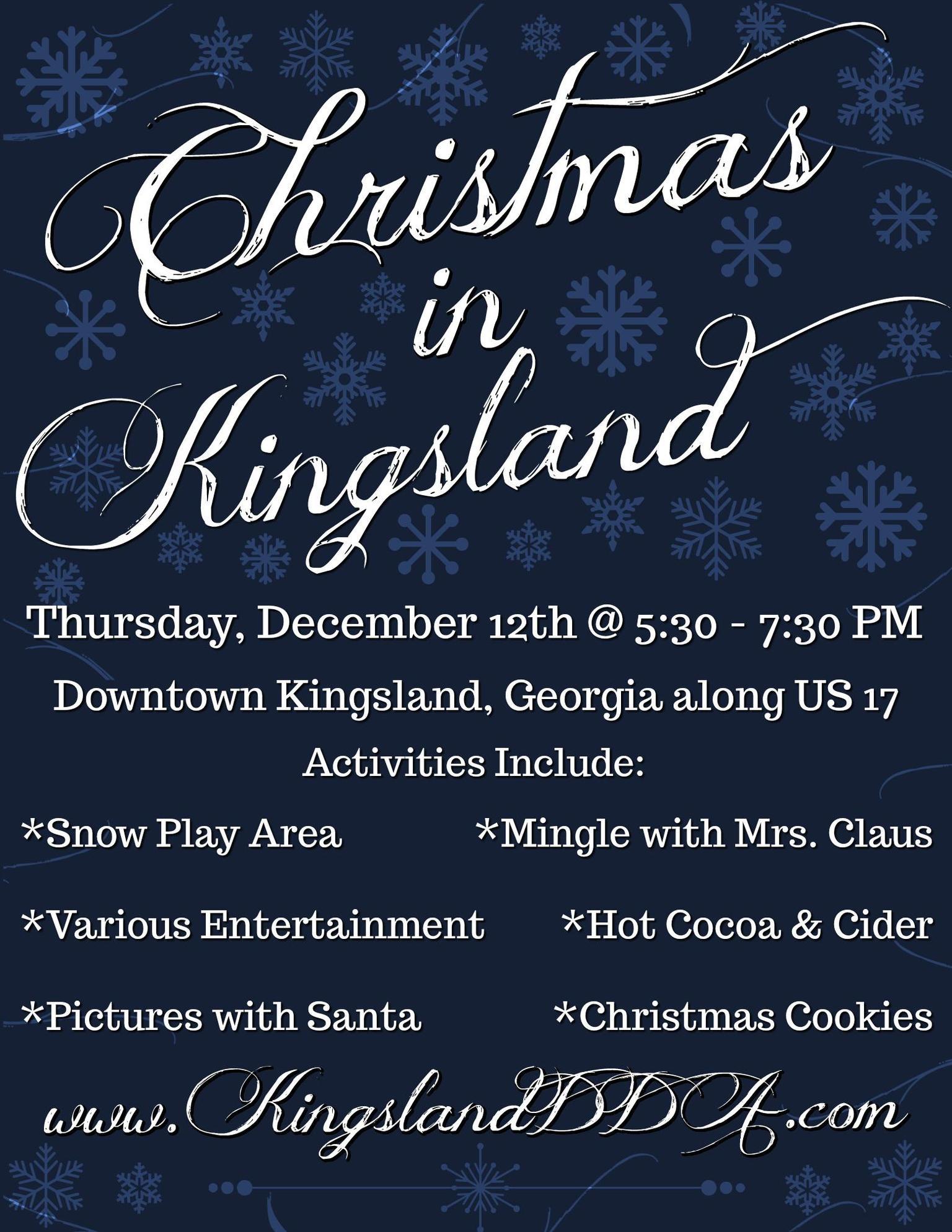 Christmas in Kingsland Schedule 2019