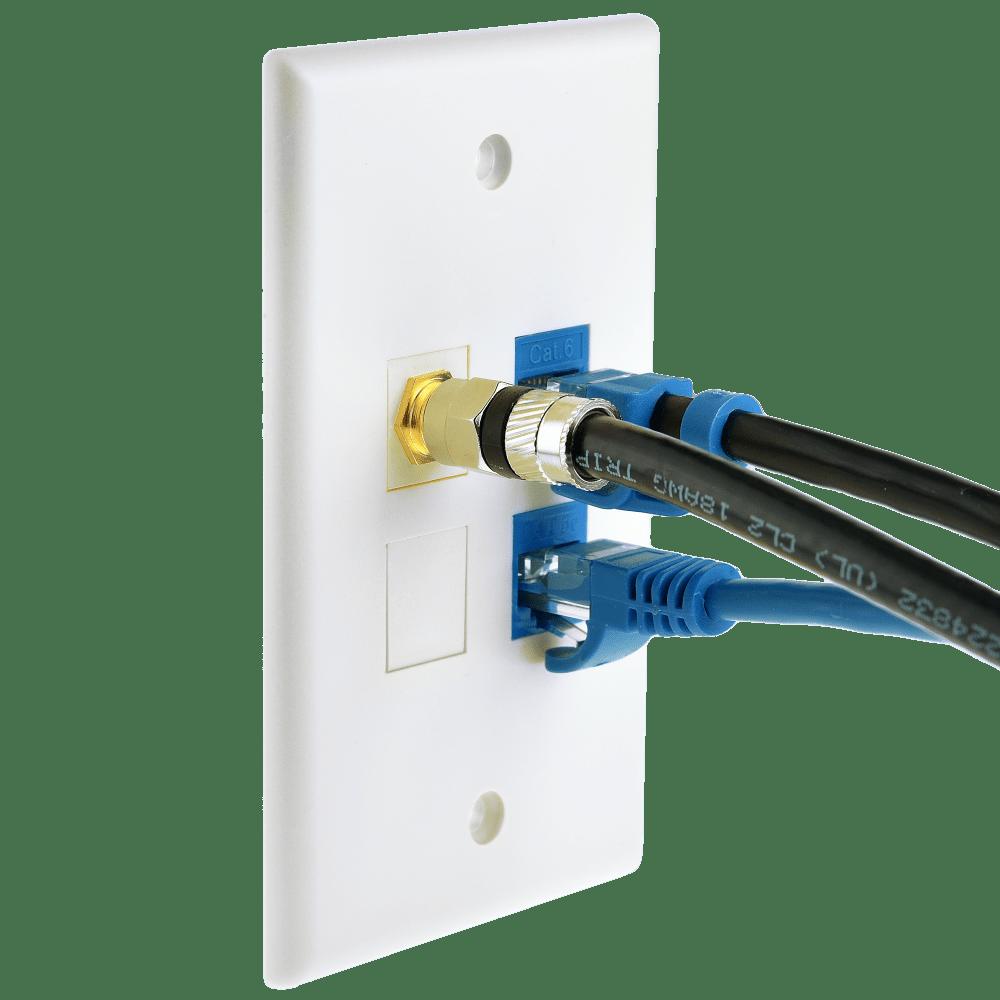 medium resolution of cat5e keystone jack blue punch down rj45 insert for keystone wall plate 25 pack part 51j c5 blu 25pk 25 pack
