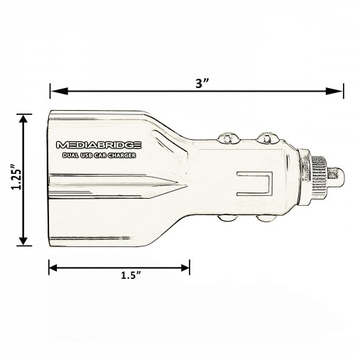 small resolution of dual usb 3 4a 17w car charger