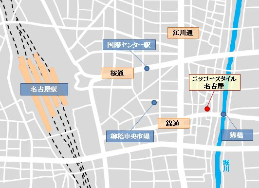 イメージ:『ニッコースタイル名古屋』地図