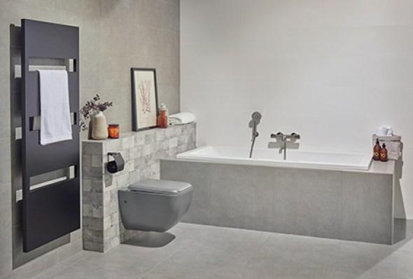 Inspiratie voor een betonlook badkamer verbouwing