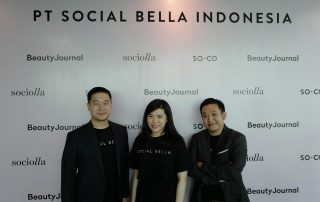 Co-Founder oof Social Bella John Rasjid, chrisanti indiana, and Christopher Madiam.