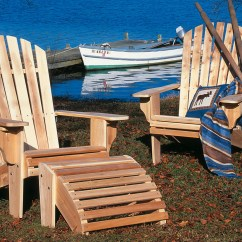 Unfinished Adirondack Chair Posture Stool Uk Rustic Natural Cedar Deluxe
