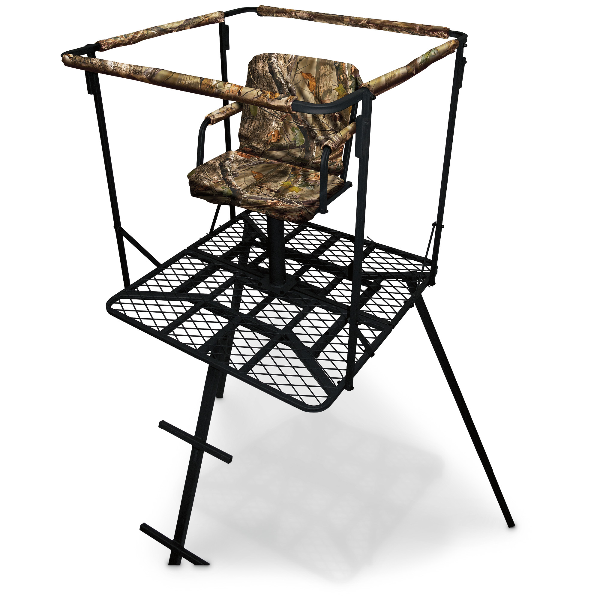 swivel hunting chair with armrests fishing bed covers sniper 16 39 outlaw tripod stand 179 99 thrill on
