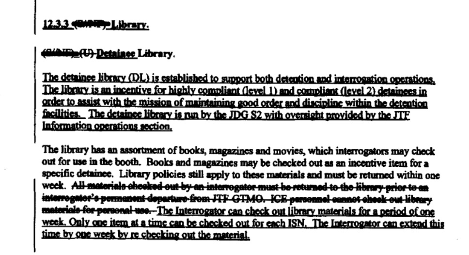 Who runs the Gitmo library? The Navy's not quite sure