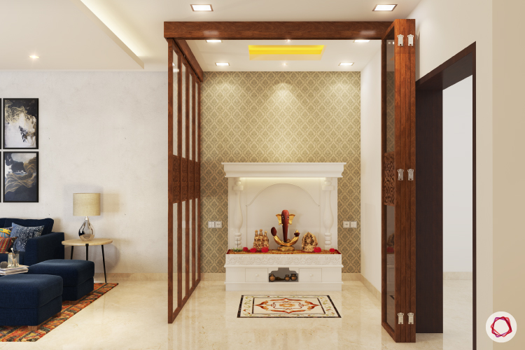 simple tv wall unit designs for living room burnt orange accessories mandir made of marble your heavenly abode