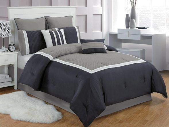 Contempo 8Pc Comforter Set2 Sizes