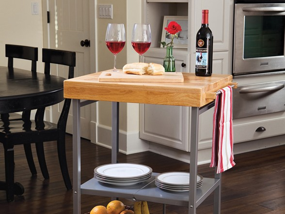 origami folding kitchen island cart banquette bench foldable (2 colors)