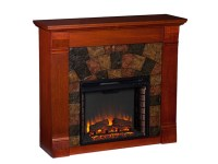 Elkmont Electric Fireplace - Mahogany