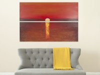 Sanibel Sunset Diptych Wall Art