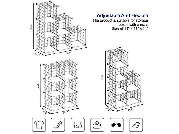 SONGMICS Metal Wire Cube Storage