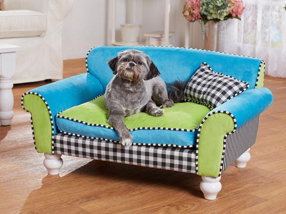 enchanted home mackenzie pet sofa tommy bahama leather bed turq-black/mixed