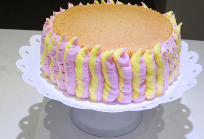Lemon Raspberry Cake Baking In Pink