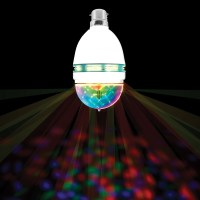 Spinning LED Party Bulb | Multicoloured Light | The ...