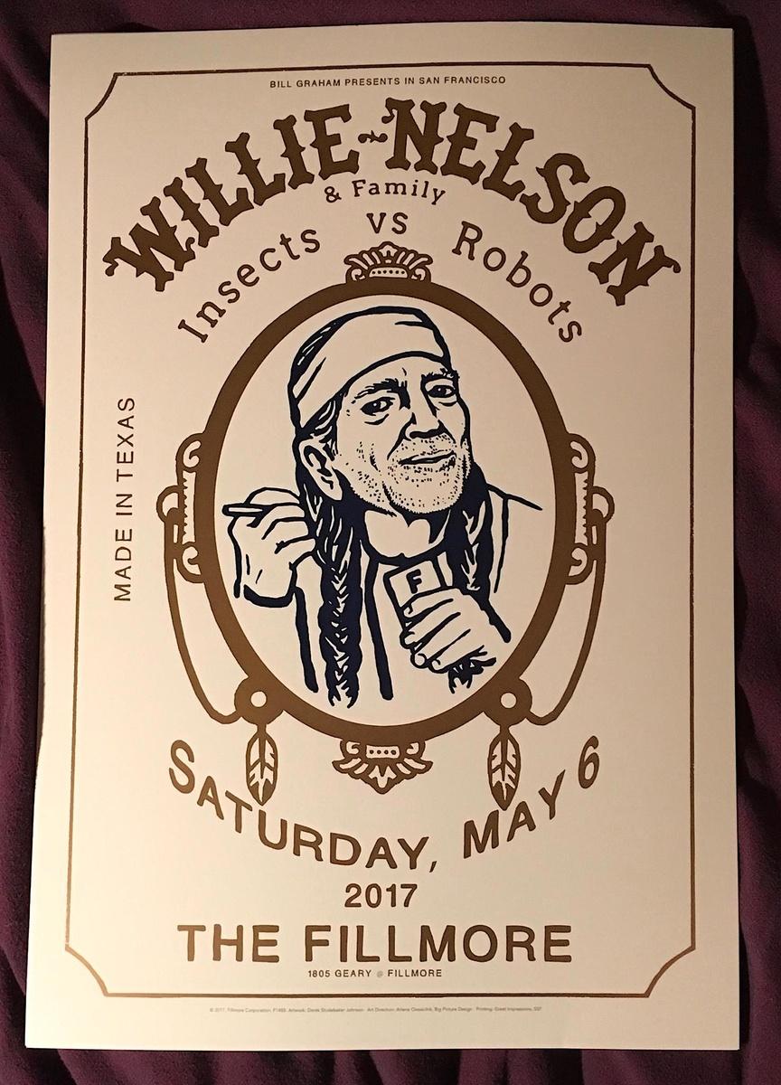 willie nelson poster fillmore 5 6 17