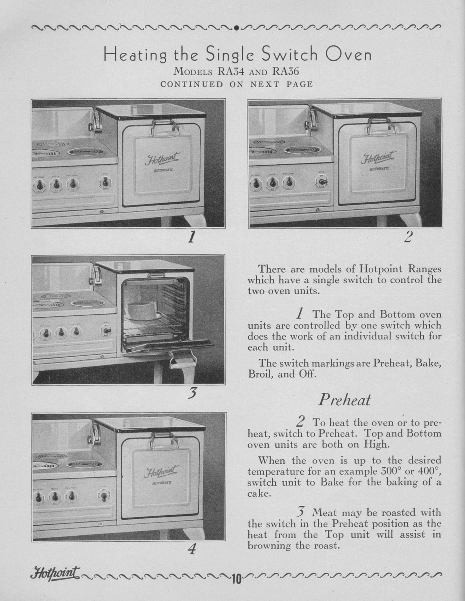 hight resolution of 1930 s ge hotpoint oven stove manual collectors weekly