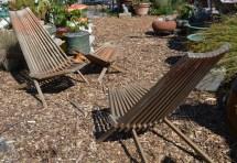 mid-century folding teak garden