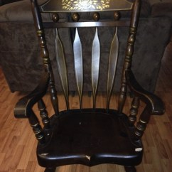 Antique Rocking Chairs Value Racer Gaming Chair Canada Very Solid Heavy And Sturdy Stamped Virginia House Underneath Seat Collectors Weekly