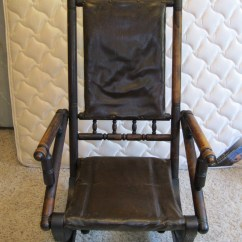 Antique Platform Rocking Chair With Springs Coors Light From The 1800 S Collectors Weekly