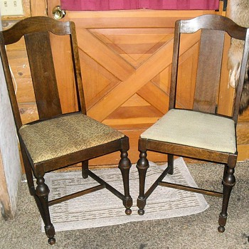 vintage wooden dining chairs olive green chair antique and collectors weekly straight back