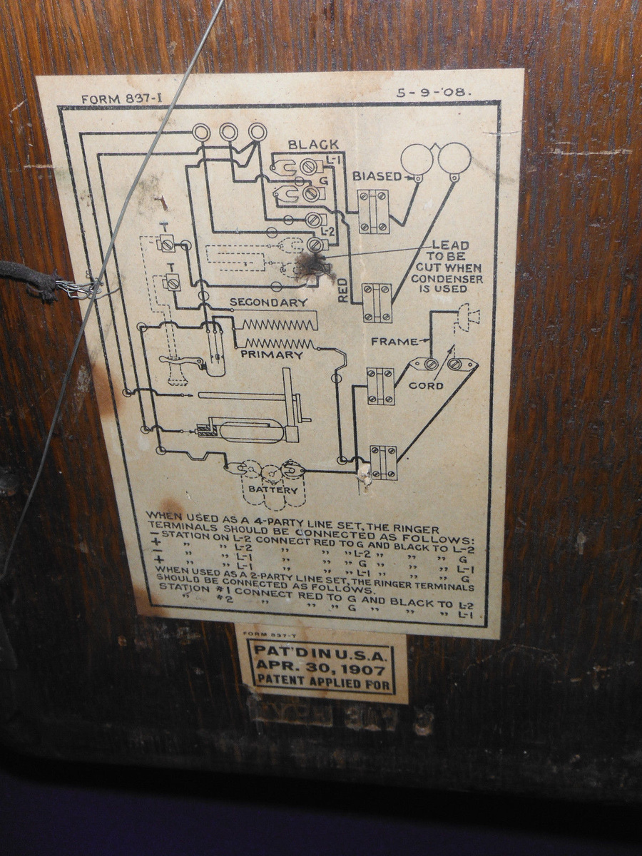 Phone Wiring Diagram Also Western Electric Telephone Wiring Diagram