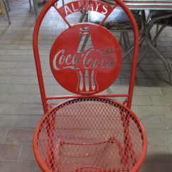 Coca Cola Chairs And Tables Folding Director Aluminum Metal Chair Collectors Weekly