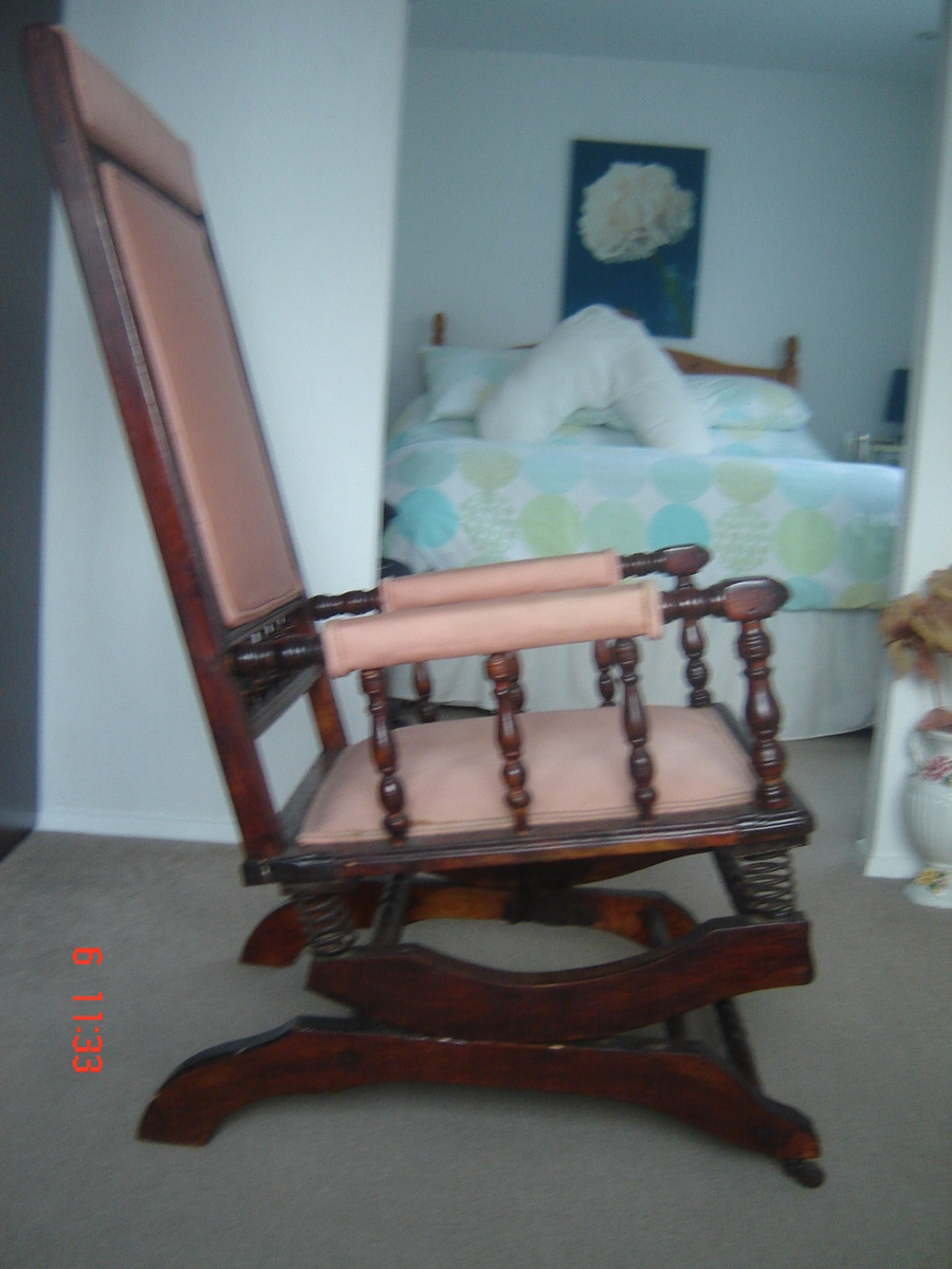 grandma rocking chair pottery barn slipcover reviews dexter with 6 spring suspension | collectors weekly