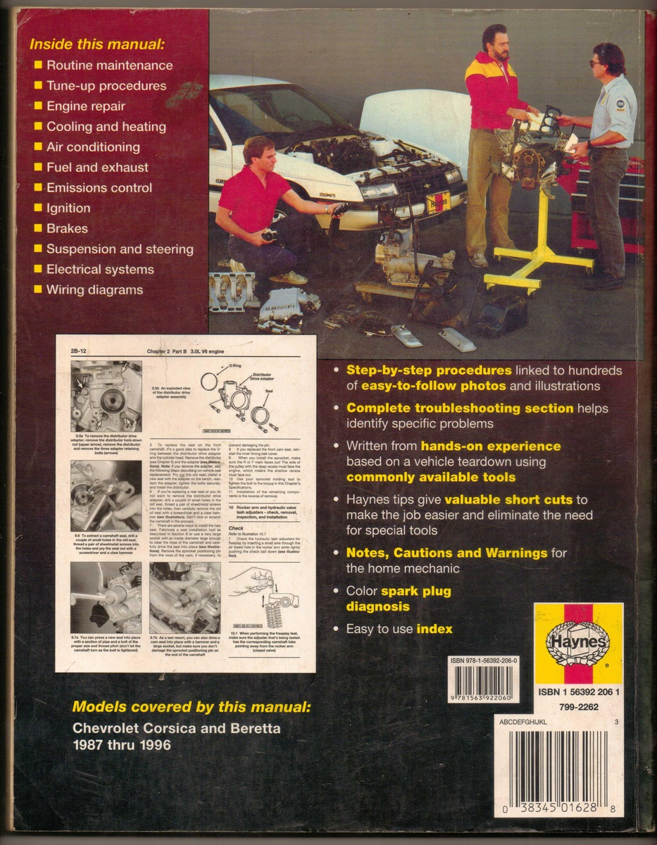 hight resolution of haynes repair manual 1987 1996 chevrolet corsica beretta collectors weekly