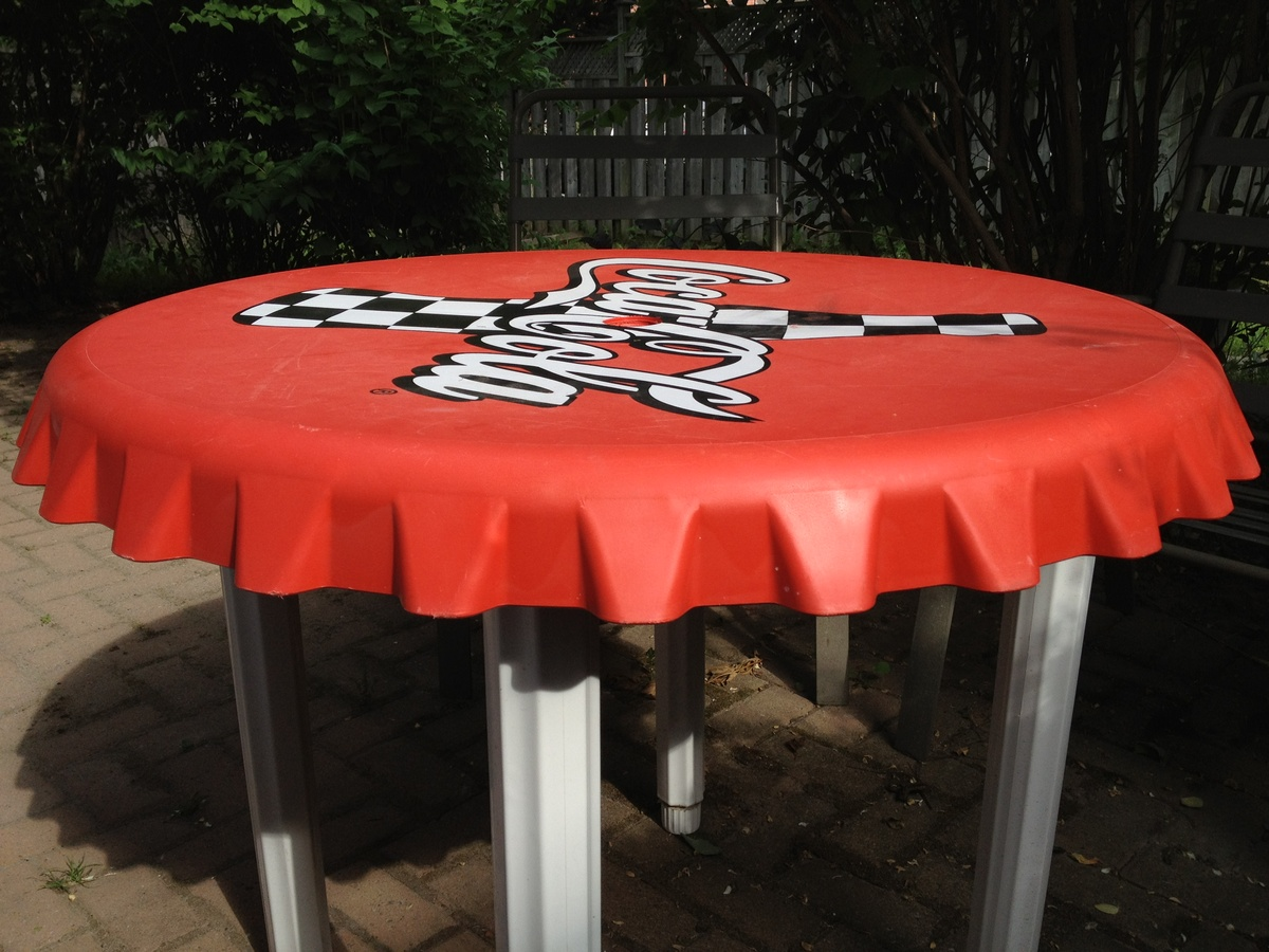 Coca Cola Table And Chairs Coca Cola Bottle Cap Table Collectors Weekly
