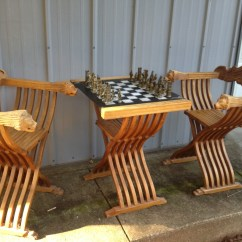 Chess Table And Chairs Space Saver High Chair Cover Bought This Set At An Auction Was Told It I Italy In The 1970 S Anybody Know Anything About Collectors Weekly