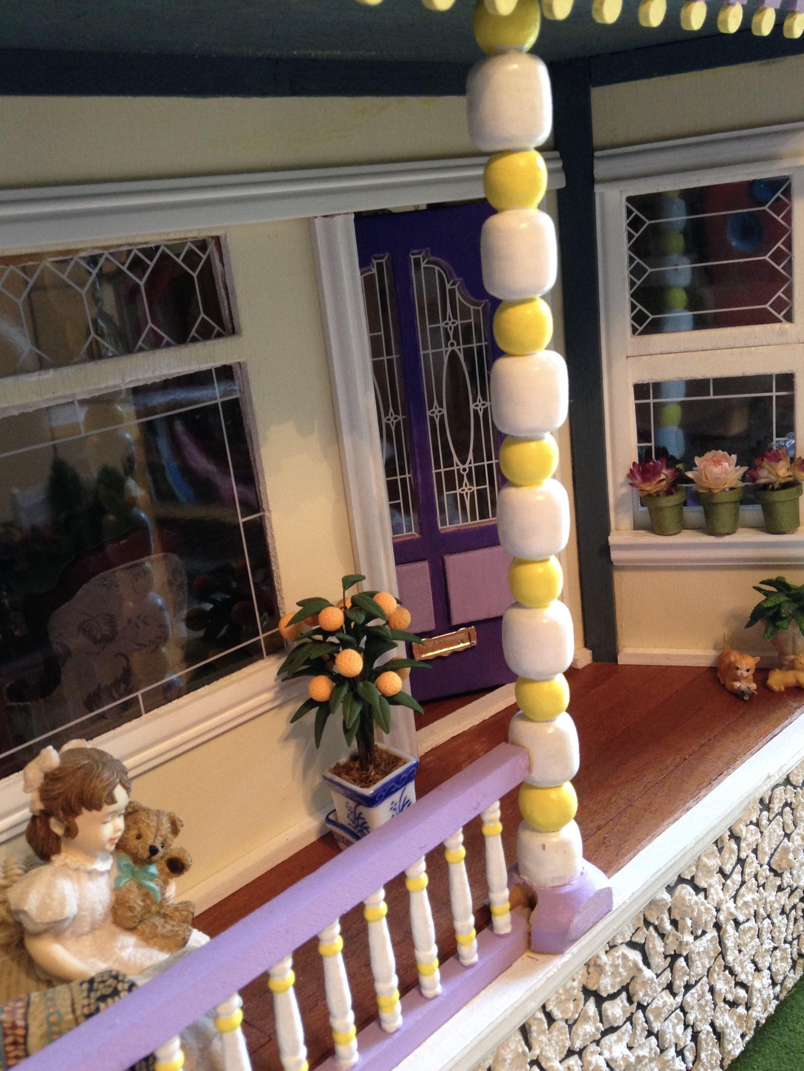 My Victorian Painted Lady Dollhouse Porch And Living Room