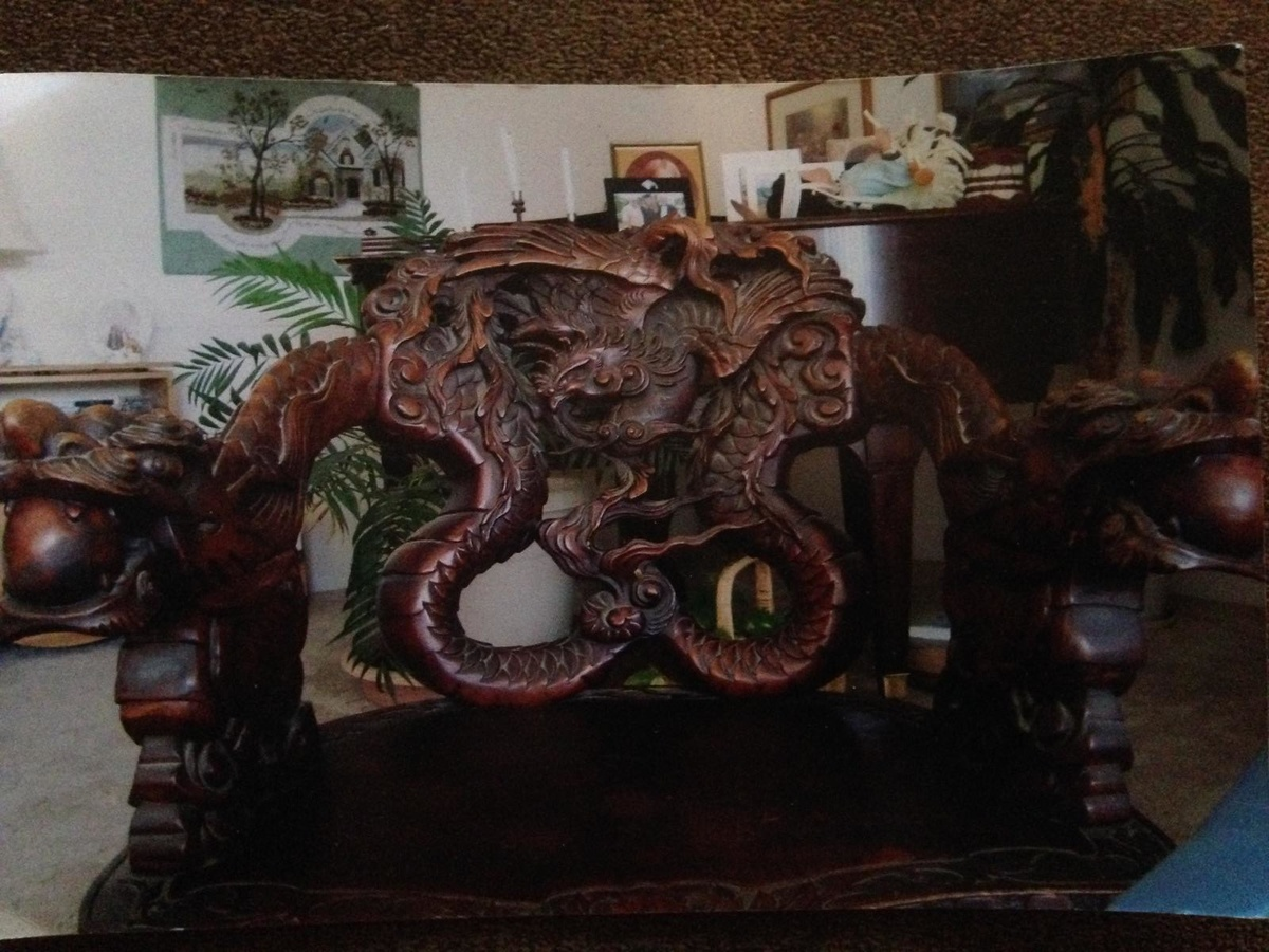 antique chinese dragon chair dining table and chairs set among the clouds hand carved collectors weekly