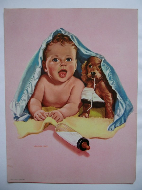 Vintage Little Baby Boy Illustration. Collectors Weekly