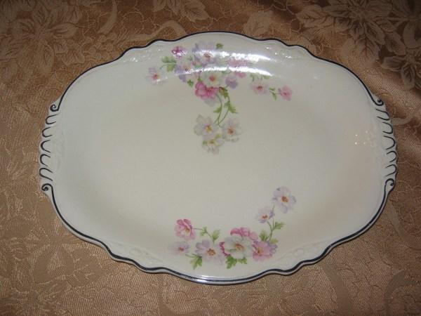 Homer Laughlin Virginia Rose Platter Collectors Weekly